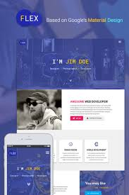 Resume Website Template Flex Portfolio Resume Website Template 100 24