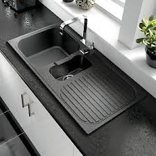 Stylish Modern Wickes Rae Black Glass Kitchen Sink Tap Not Kitchen Sinks Wickes