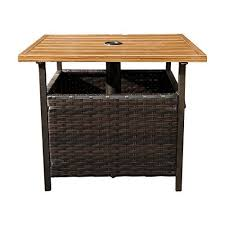 outdoor pe wicker stand side table