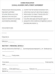 Employment Contract Template Australia Form Work Templates – Vanilja