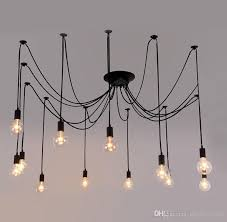 vintage diy nordic spider pendant lamp multiple adjustable retro pendant light loft classic decorative fixture lighting led home