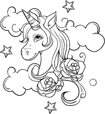 Free printable realistic rose coloring pages for adults and valentine's day. Unicorn Head And Roses Coloring Page Free Printable Coloring Pages For Kids