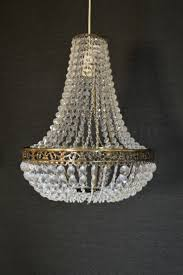 large empire style chandelier acrylic crystal antique brass