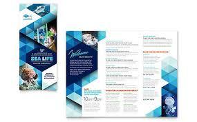 Tri Fold Samples Ocean Aquarium Tri Fold Brochure Template Brochure