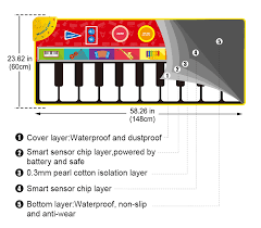 Big Size Baby <b>Musical</b> Instrument Voice Singing Play <b>Mat</b> Game ...