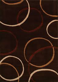 contemporary rug patterned wool rectangular brown circles