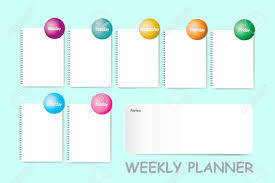 Weekly Planner With A Chart For Notes And Blank Spiral Notebook