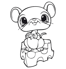 Small Picture Littlest pet shop coloring pages mouse ColoringStar