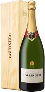 in the photo image bollinger special cuvee brut wooden box 6 l