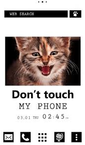 Don't touch my phone wallpapers. Cat Wallpaper Don T Touch My Phone Theme Android Apps Appagg