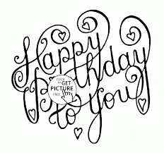 Happy Birthday To You Card Coloring
