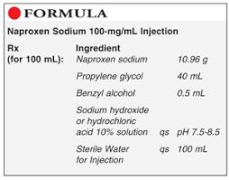 Naproxen Sodium 100 Mg Ml Injection