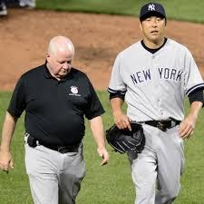 Yankees' Hiroki Kuroda leaves start vs. Orioles with calf injury - Sports  Illustrated