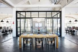 industrial style office. nancy meyers the intern office loft set design industrial style modern