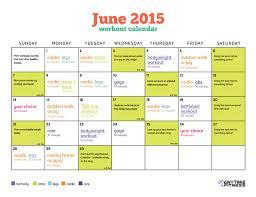 Calendar 2015 June July June 2015 Workout Calendar