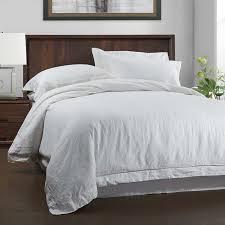 simple once 100 linen duvet cover set 3 piece solid wash