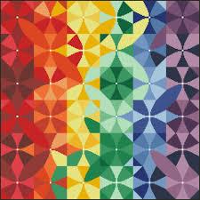 Box Of Crayons Kaleidoscope Printed Chart
