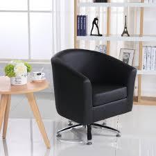 camden leather swivel tub chair armchair black
