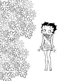 Kleurplaat Betty Boop 10