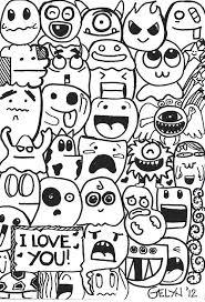 Art Doodle 40 Awesome Cute Doodles Images Seni Doodle Ide