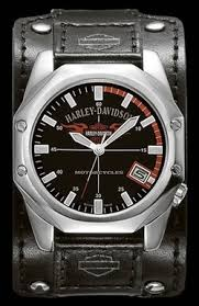 accessories mabua harley davidson semarang harley davidson men s bulova wrist watch 76b146 black dial luminous hands stainless steel case date black leather cuff strap