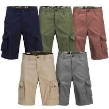 Jack And Jones Shirt Size Chart Details About Jack Jones Preston Mens Cargo Shorts Military Style Summer Pants