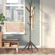 Traditional Oak Finish Coat Rack Coat Racks Umbrella Stands 75