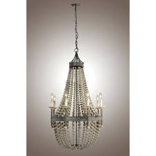 chandeliers decomustar wooden pottery barn wood bead pendant chandelier lamp 8 lights 30 inchceiling lights