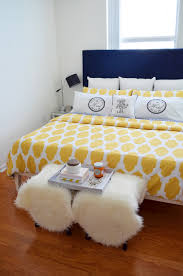 Navy Bedroom Navy And Yellow Bedroom Decor Mod Max Glam