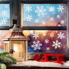 Weihnachtsdeko Weihnachten Fensterdeko Set Diy Weihnachtsdeko Schneeflocken Aufkleber Kinder Winter Dekoration Für Türen Schaufenster Vitrinen