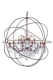 geneva 18 light crystal chandelier in rustic intent with royal cut crystal clear