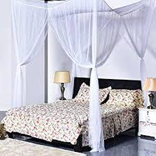 Amazon.com: Super Buy Go Plus 4 Corner Post Bed Canopy Mosquito Net ...