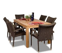 Reclaimed Teak Dining Table 5 Piece Luxurious Grade A Teak Dining Set 48 Inch Round Table
