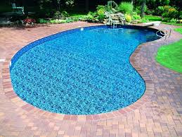 cool shaped swimming pools. Architecture:Natural Garden Design With Clear Blue Kidney Shaped Swiming Pool And Brown Blocks Cool Swimming Pools I