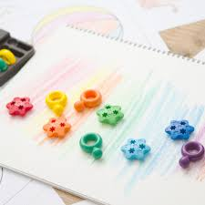 Crayon Rings Washable Crayon Rings Set Of 6 Multicoloured Primomo Toys And