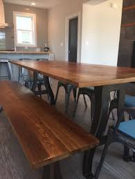 metal and wood furniture. Metal Legs Chestnut Table And Wood Furniture