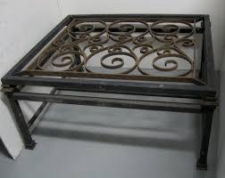 wrought iron glass coffee table custom