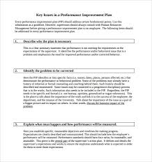 Performance Improvement Plan Template Of Pip Action Form Template ...