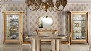 antique italian dining room set with oval table and wall mirrors also using unique wall art ideas