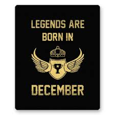 Legends Are Born In December Gaming Mouse Pad By Amazonin Electronics