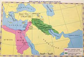 Anadolu Ve Mezopotamya Uygarlıklarının Haritası