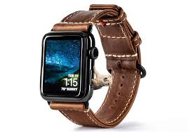 heritage leather apple watch bands