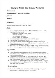 Resume Sample Objective For Driver Bullionbasis Com