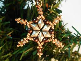 Beaded Christmas Ornaments Patterns Awesome Beaded Snowflake Pattern Christmas Beading Patterns Beaded Etsy
