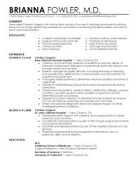 Medical Resume Template Doctors Sample Doctor Format For Curriculum ...