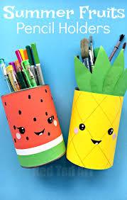 Summer Pencil Holders - this little Melon Pen Pot and Pineapple Pen Pot are  super quick