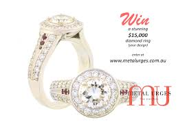 Win A Stunning 15 000 Diamond Ring Of Your Design Custom Made In