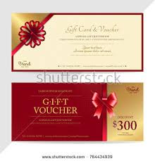 gift certificates format gift certificate voucher gift card cash stock vector 764434939
