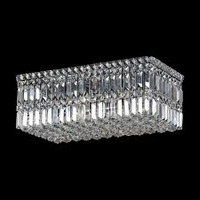small rectangular k9 crystal ceiling fitting