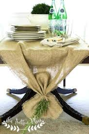 burlap table runners yone c for weddings 60 round tables with lace